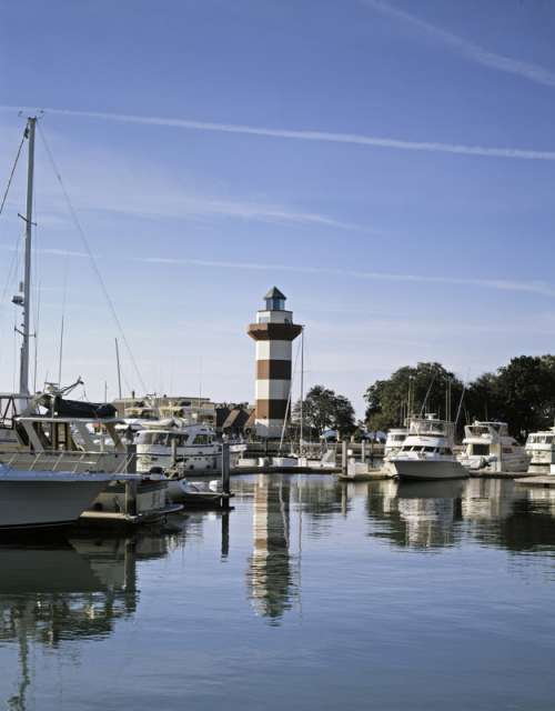 Lighthouse in the Harbor in South Carolina free photo