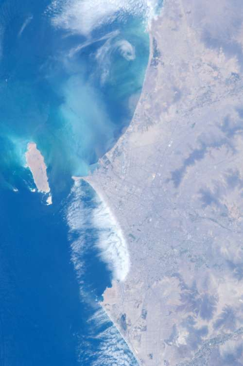 Lima as seen from the International Space Station in Peru free photo