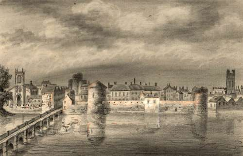 Limerick, painted in 1830 in Ireland free photo