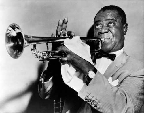 Louis Armstrong, famous Jazz Player from New Orleans, Louisiana free photo