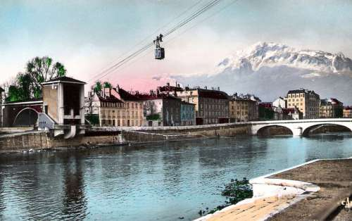Lower station in 1934 in Grenoble, France free photo