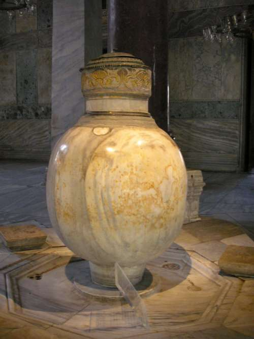 Lustration urn from Pergamon in Istanbul, Turkey free photo