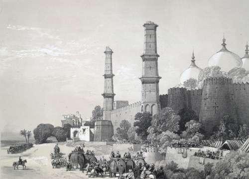 Maharajah Duleep Singh Entering the Palace at Lahore free photo