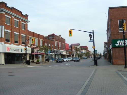 Main Street of North Bay in Ontario, Canada free photo