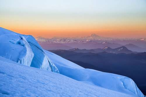 Majestic landscape around Mount Baker in Northern Cascades in Washington free photo
