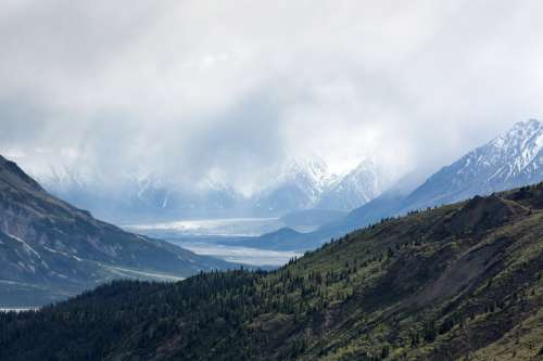 Majestic Mountainous Landscape in Yukon Territory, Canada free photo