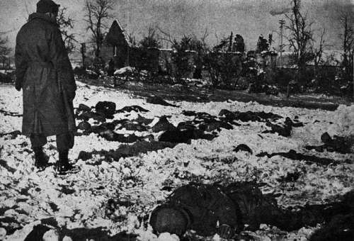 Malmedy massacre during the Battle of the Bulge, World War II free photo