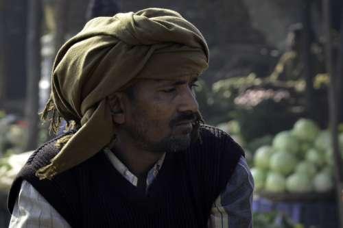 Man in Turban in Delhi, India free photo
