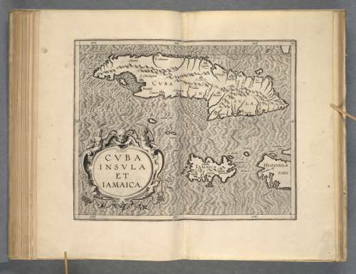 Map of Cuba by Cornelius van Wytfliet in 1597  free photo