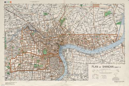 Map of Shanghai in the 1930s in China free photo