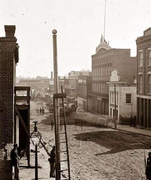 Marietta Street, 1864 in Altanta Georgia free photo