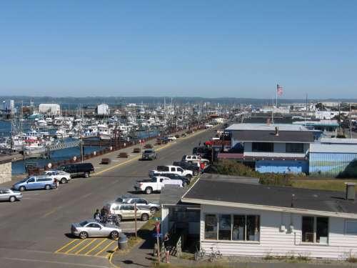Marina district of Westport, Washington free photo