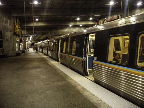 MARTA subway under Atlanta, Georgia free photo