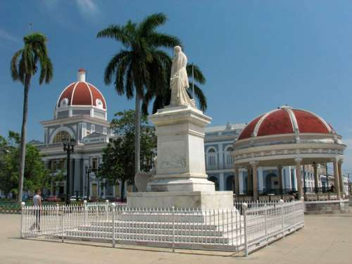 Marti Park and City Hall in Cienfuegos, Cuba free photo