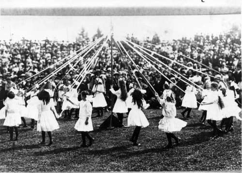 May Day celebrations in 1913 in New Westminster British Columbia, Canada free photo