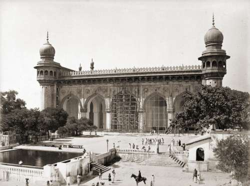 Mecca Masjid in Hyderabad, India free photo
