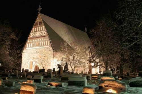 Medieval Church in Hollola, Finland free photo