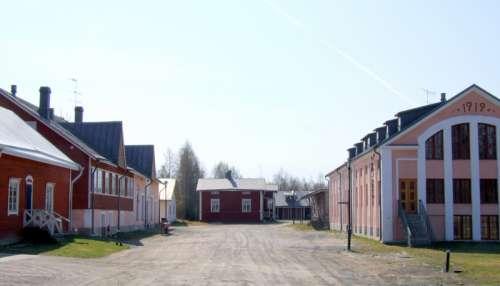 Meijeritie Street in Tyrnävä village in Finland free photo