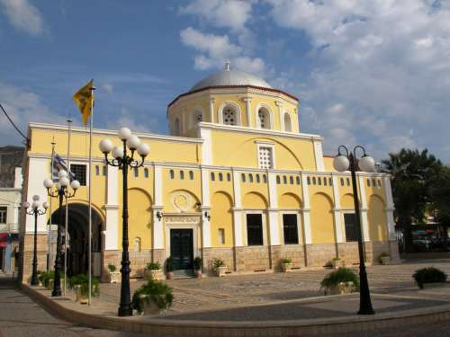 Metamorfoseos Sotiros Christou Cathedral in Kalymnos, Greece free photo