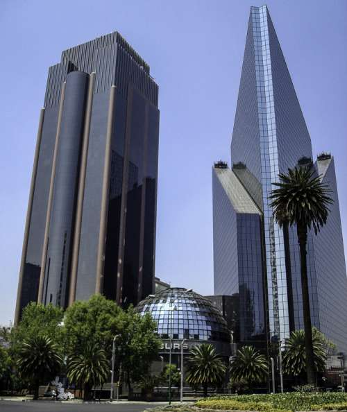 Mexican Stock Exchange in Mexico City, Mexico free photo