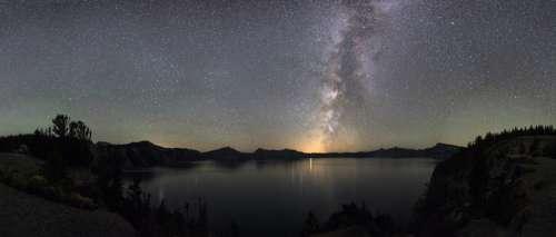 Milky Way and Stars at Crater Lake National Park, Oregon free photo