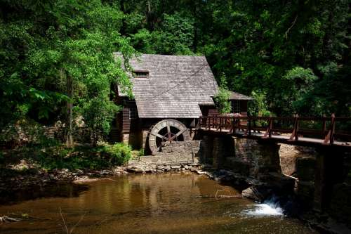 Mill House on the River in Alabama free photo