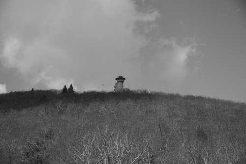 Monochrome Photo of Brasstown Bald, Georgia free photo