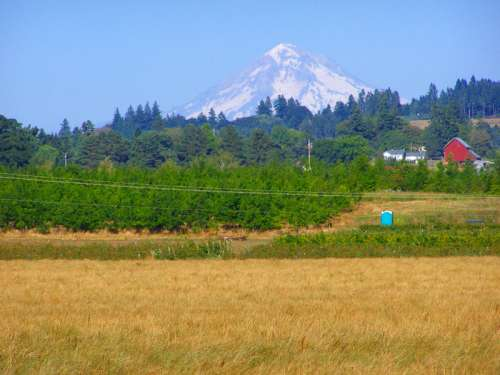 Mount Hood as seen from Molalla Forest Road in Canby, Oregon free photo