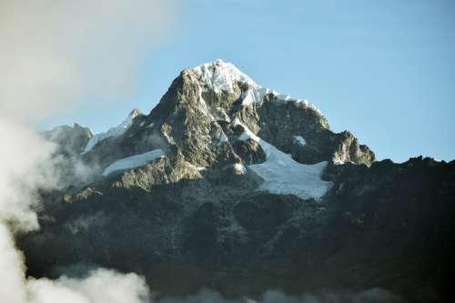 Mountain and Inca Trail in Peru free photo