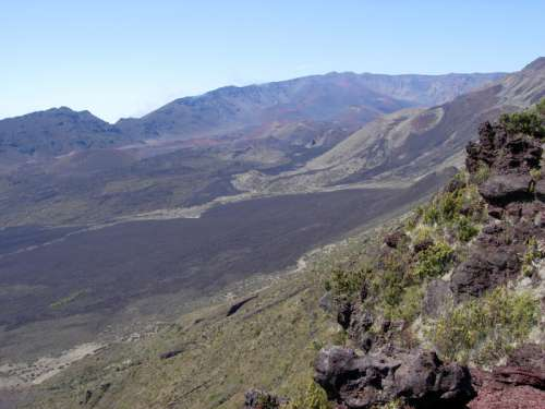 Mountain Landscape in Haleakalā National Park, Hawaii free photo