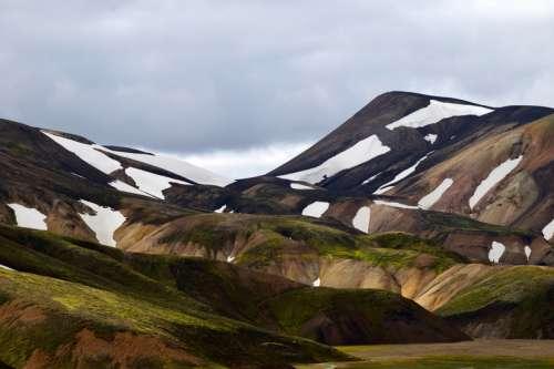 Mountain landscape in Landmannalaugar, Iceland free photo