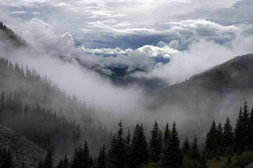 Mountain Landscape with Clouds free photo