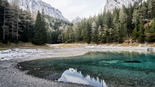 Mountains, Trees, and Lake in Gruner See, Austria free photo