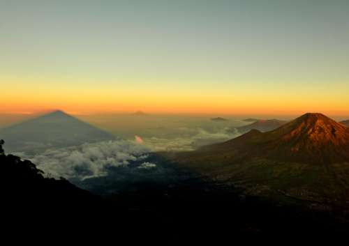 Mountaintop Landscape in Indonesia free photo