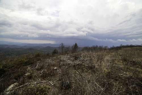 Mountaintop Top Under Clouds at Sassafras Mountain, South Carolina free photo