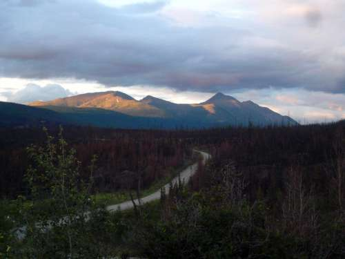 Nahanni Range Road near Tuchitua in the Yukon Territory, Canada free photo