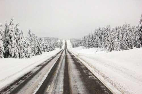 National road 20 in Kuusamo, Finland in winter free photo