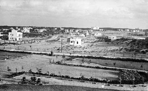 Netanya, early 1930s landscape in Israel free photo