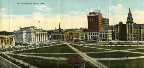 New Haven Green in Connecticut in 1919 free photo