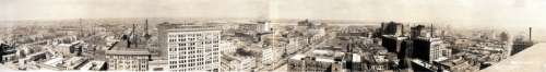 New Orleans panorama 1919 Central business district in Louisiana free photo