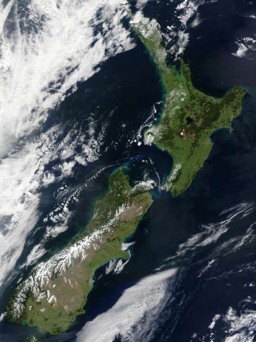 New Zealand from Space free photo