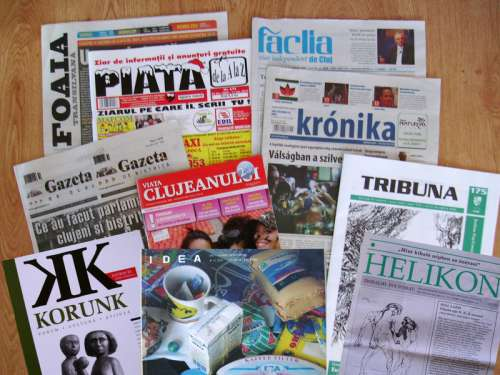 Newspapers in Cluj-Napoca, Romania free photo