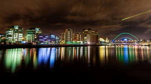 Night Skyline in Gateshead, England free photo