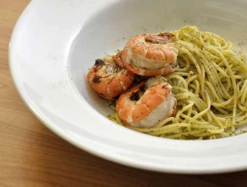 Noodles with Shrimp free photo