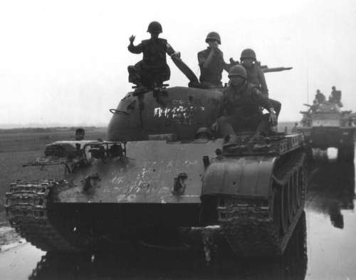 North Vietnamese Type 59 tank captured by South Vietnamese 20th Tank Regiment  free photo
