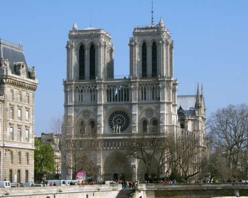 Notre Dame Cathedral in Paris France free photo