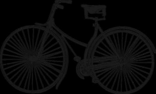 Old Bicycle vector clipart free photo