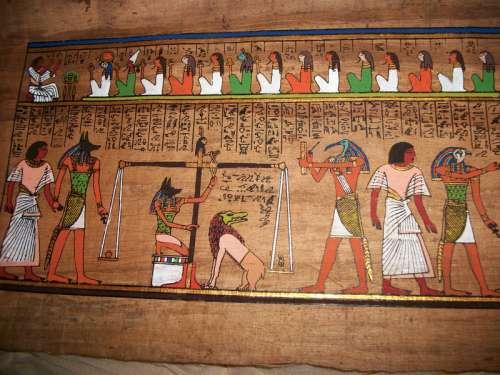 Old egypt hieroglyphs free photo