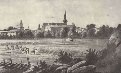 Old Vaasa in the 1840s by Johan Knutsson in Finland free photo