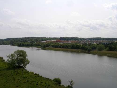Overlooking the River Bann in Coleraine, Ireland free photo